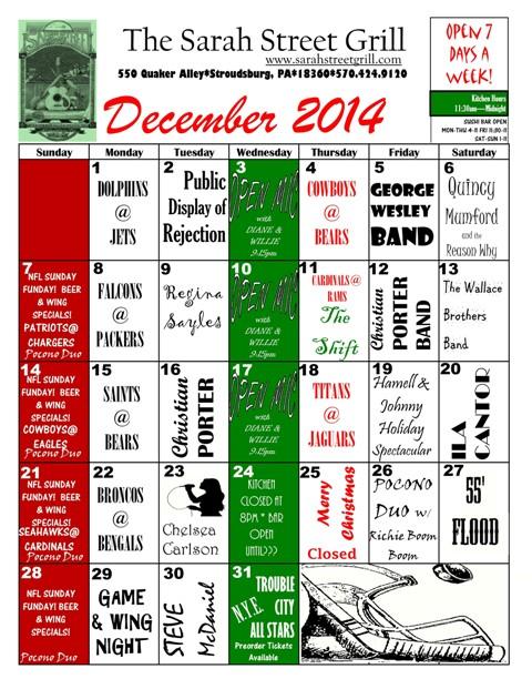 web size calendar 12-001